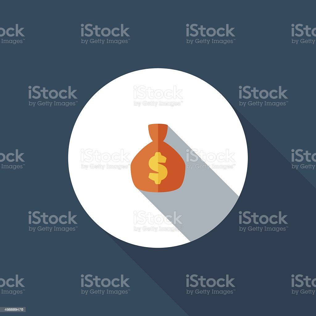 Money bag vector art illustration