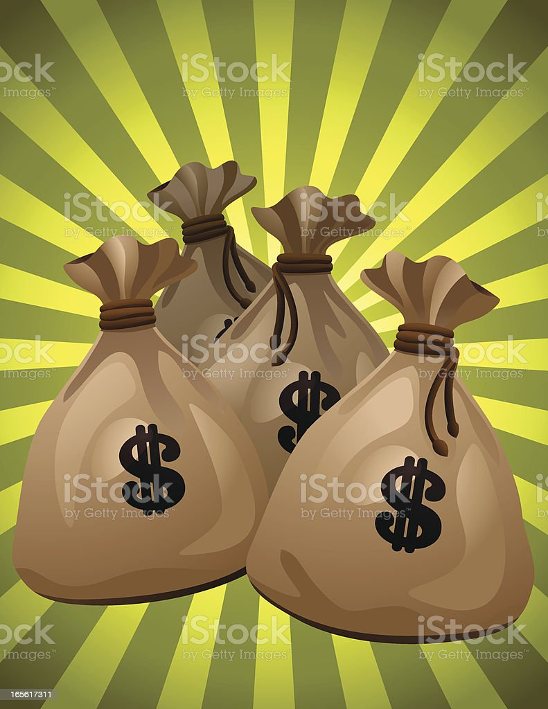 Money Bags royalty-free stock vector art