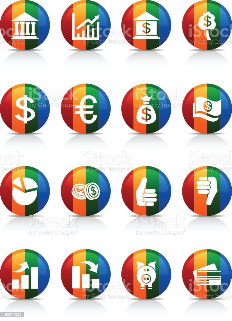 MOney buttons. royalty-free stock vector art