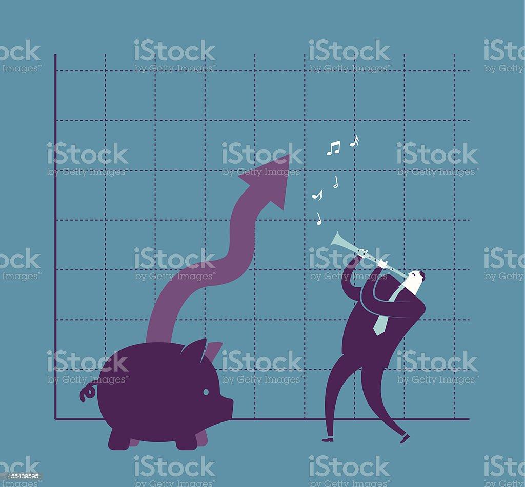 Money Charmer vector art illustration