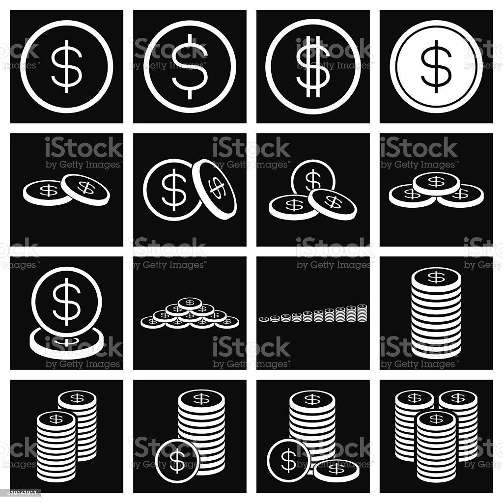 Ensemble d'icônes de l'argent-monnaie.  Illustration vectorielle stock vecteur libres de droits libre de droits