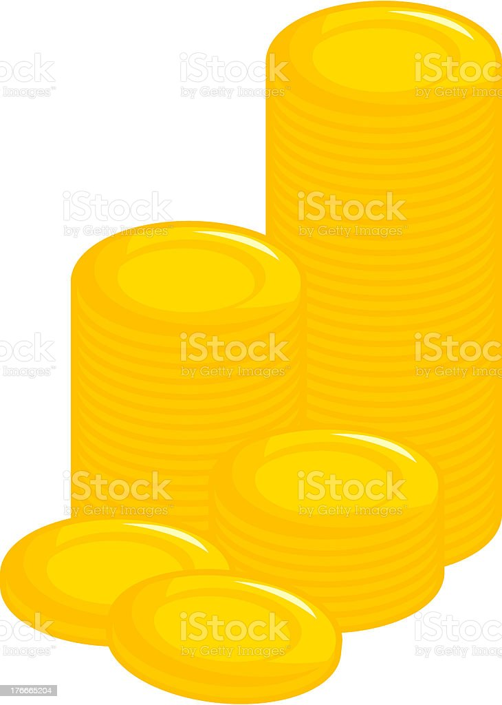 money coins or tokens royalty-free stock vector art