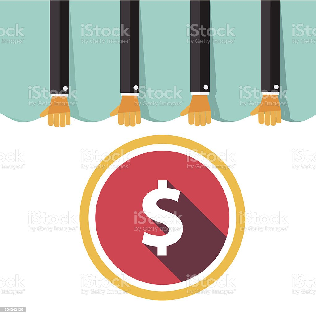 Money Concept Design and Business background. Vector dollar, eur royalty-free stock vector art