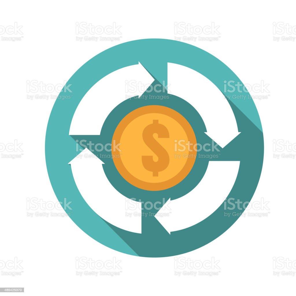 money convert icon vector art illustration
