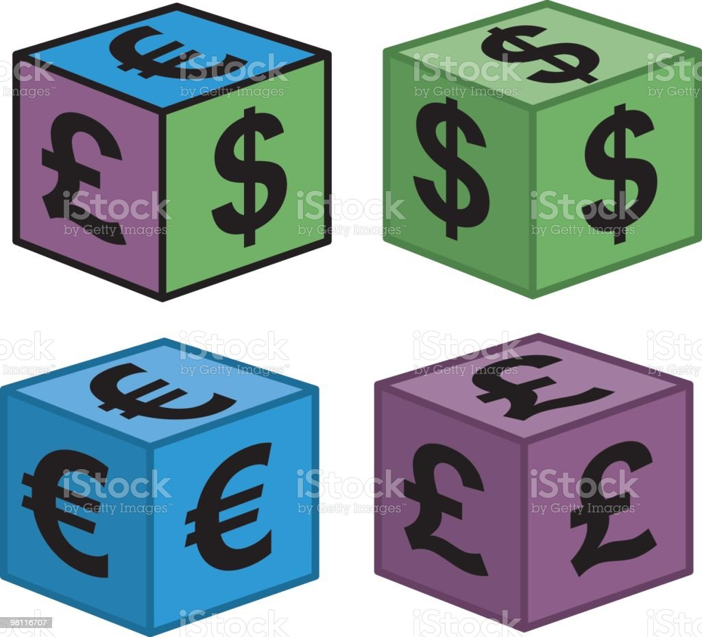 money dice royalty-free stock vector art