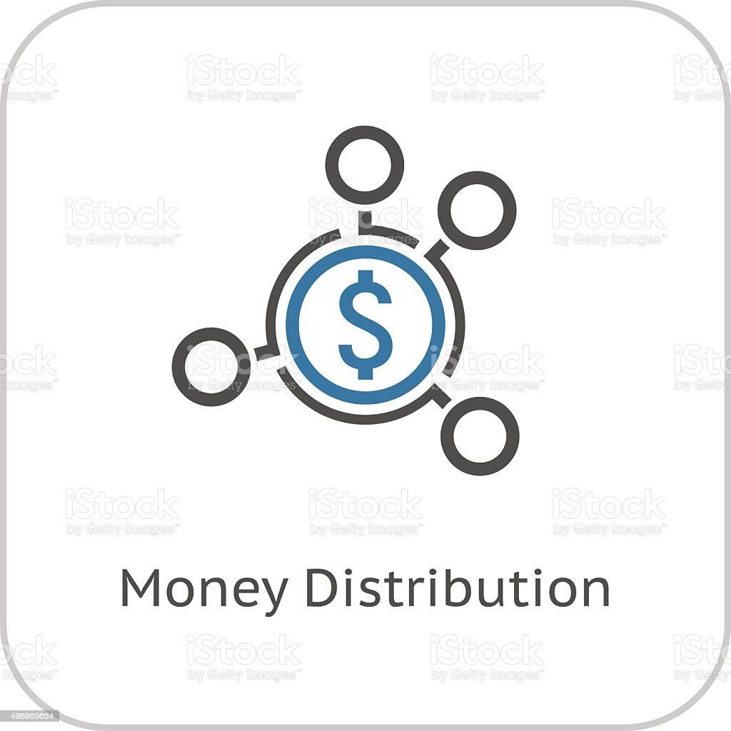 Money Distribution Icon. Flat Design. vector art illustration
