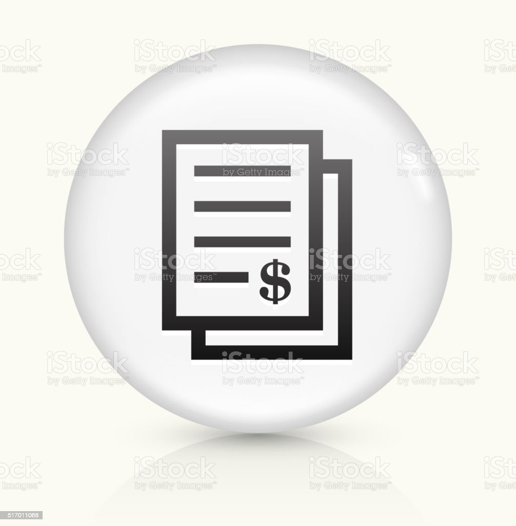 Money Documents icon on white round vector button vector art illustration