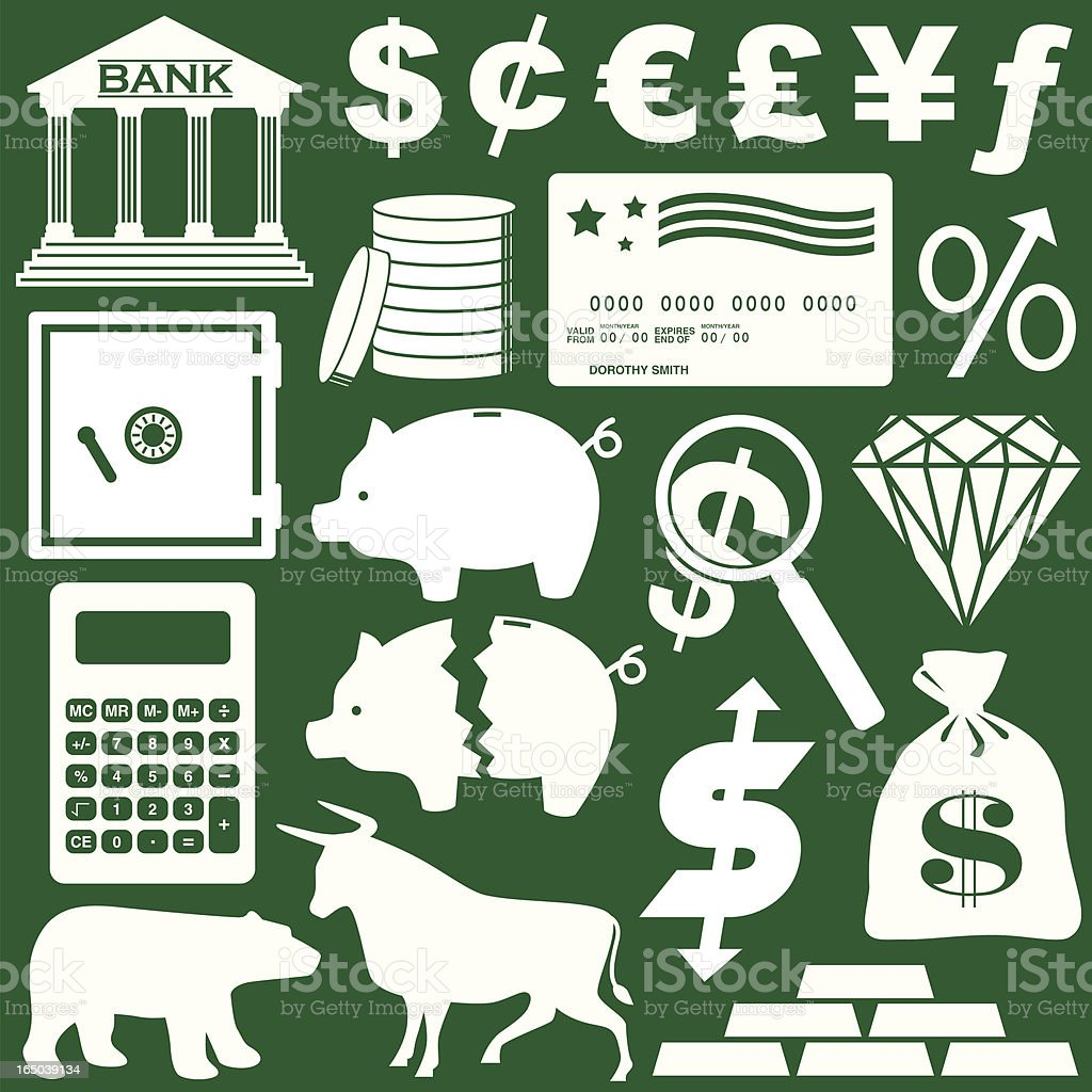 Money Elements vector art illustration