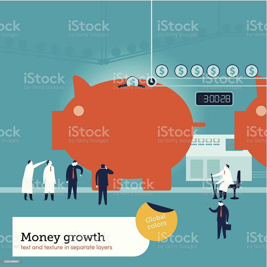 Money Factory royalty-free stock vector art
