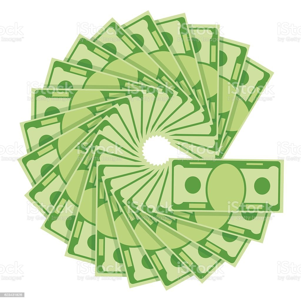 money fan image vector art illustration