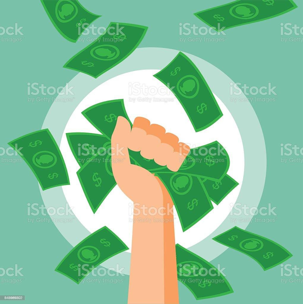 Money Fist vector art illustration