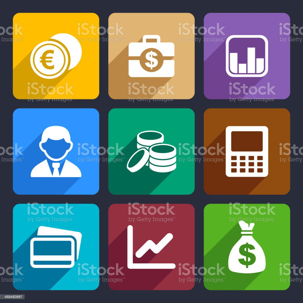 Money flat icon set 15 royalty-free stock vector art
