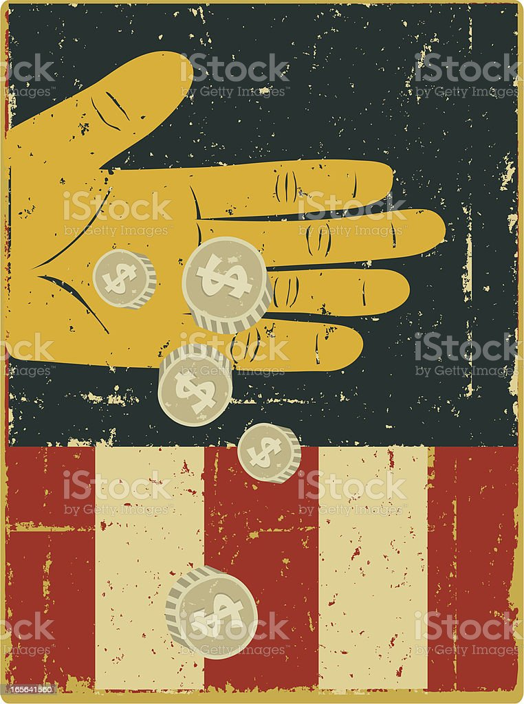 Money for Uncle Sam… royalty-free stock vector art