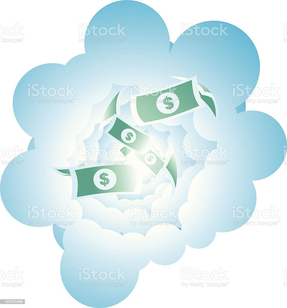 Money From Sky royalty-free stock vector art