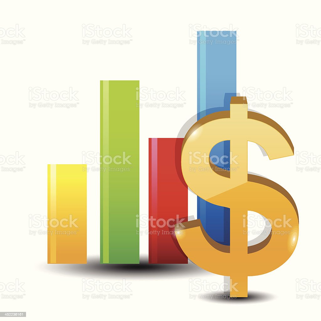Money graphs royalty-free stock vector art