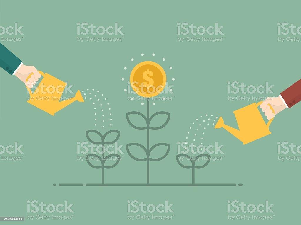 Money Growth vector art illustration