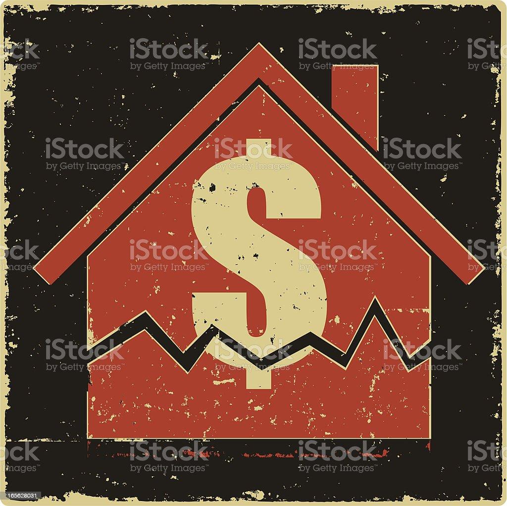 Money House royalty-free stock vector art