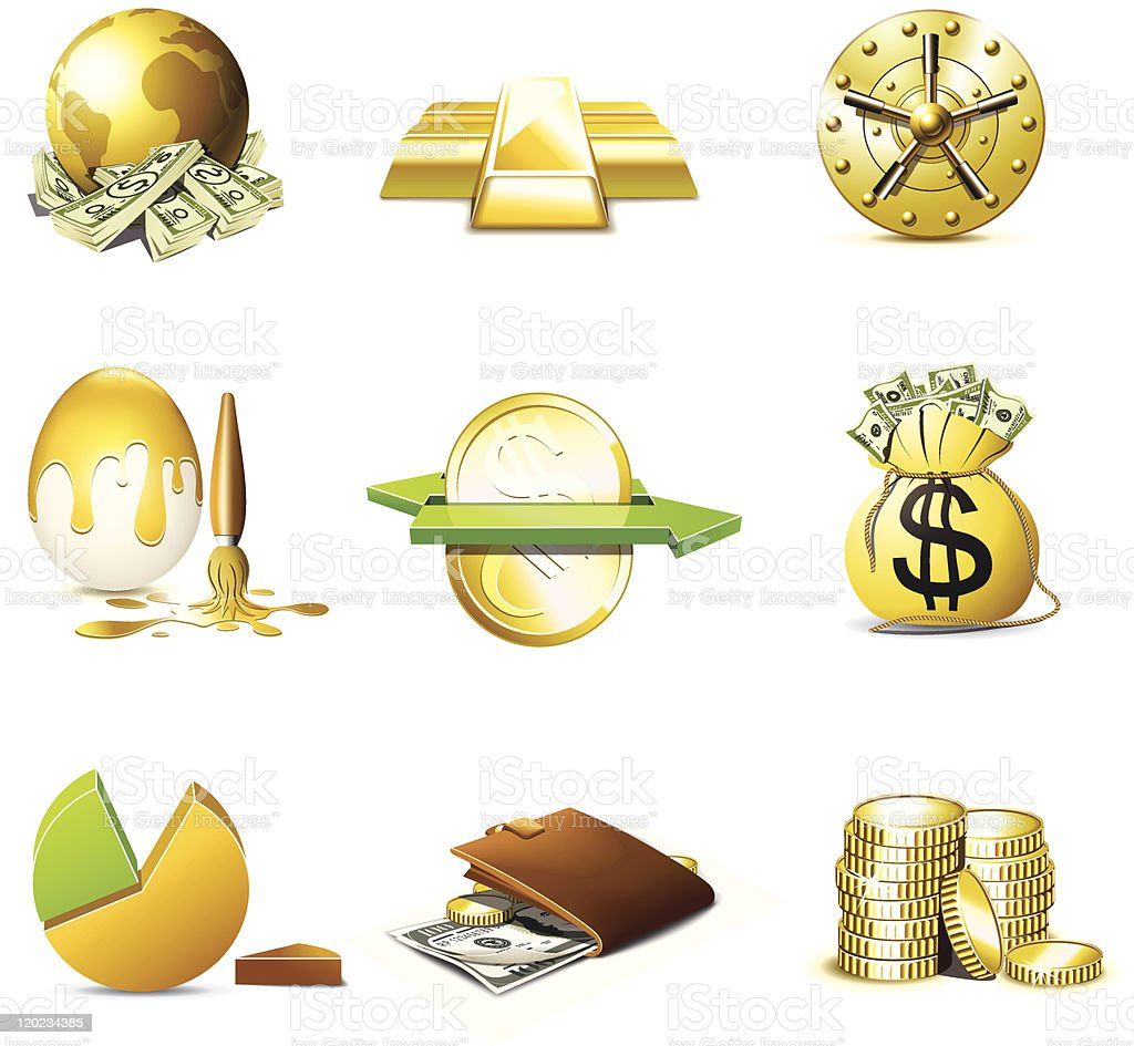 Money icons | Bella series royalty-free stock vector art