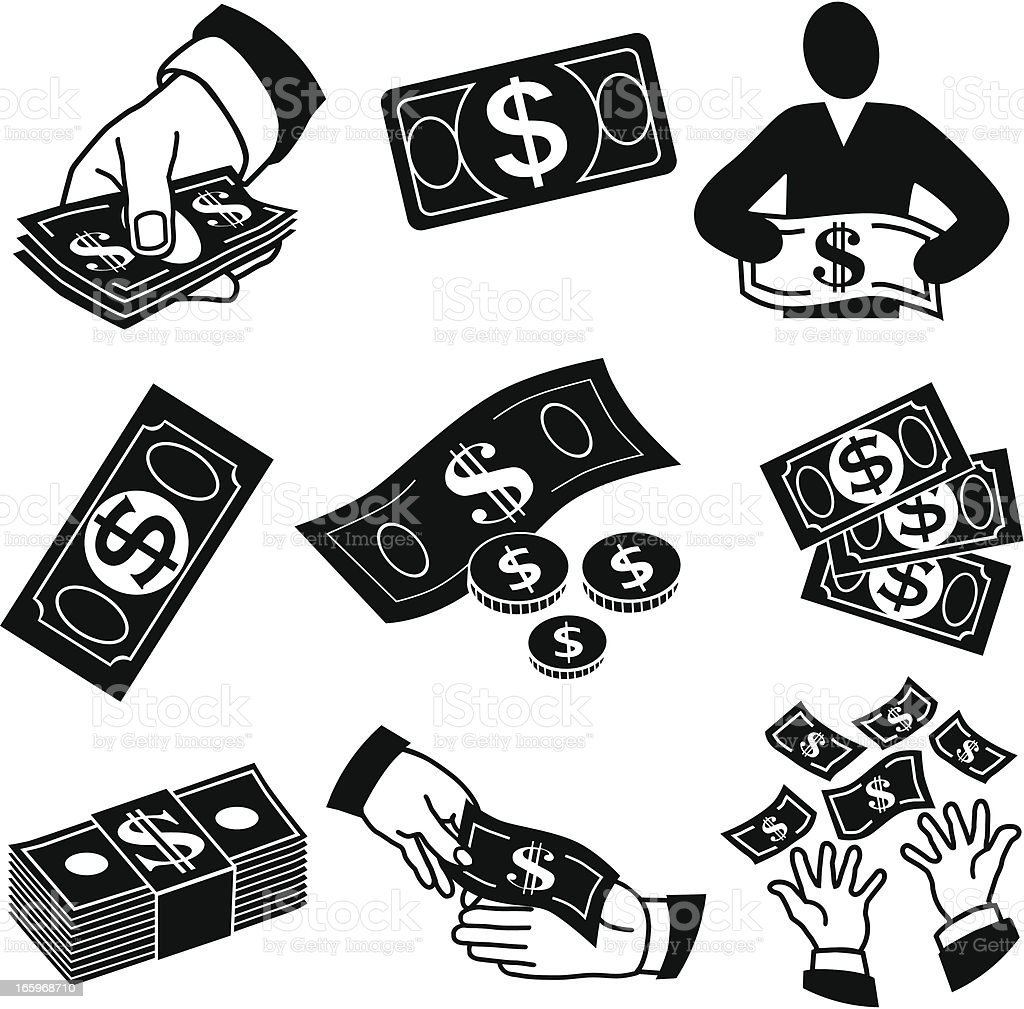 money icons royalty-free stock vector art