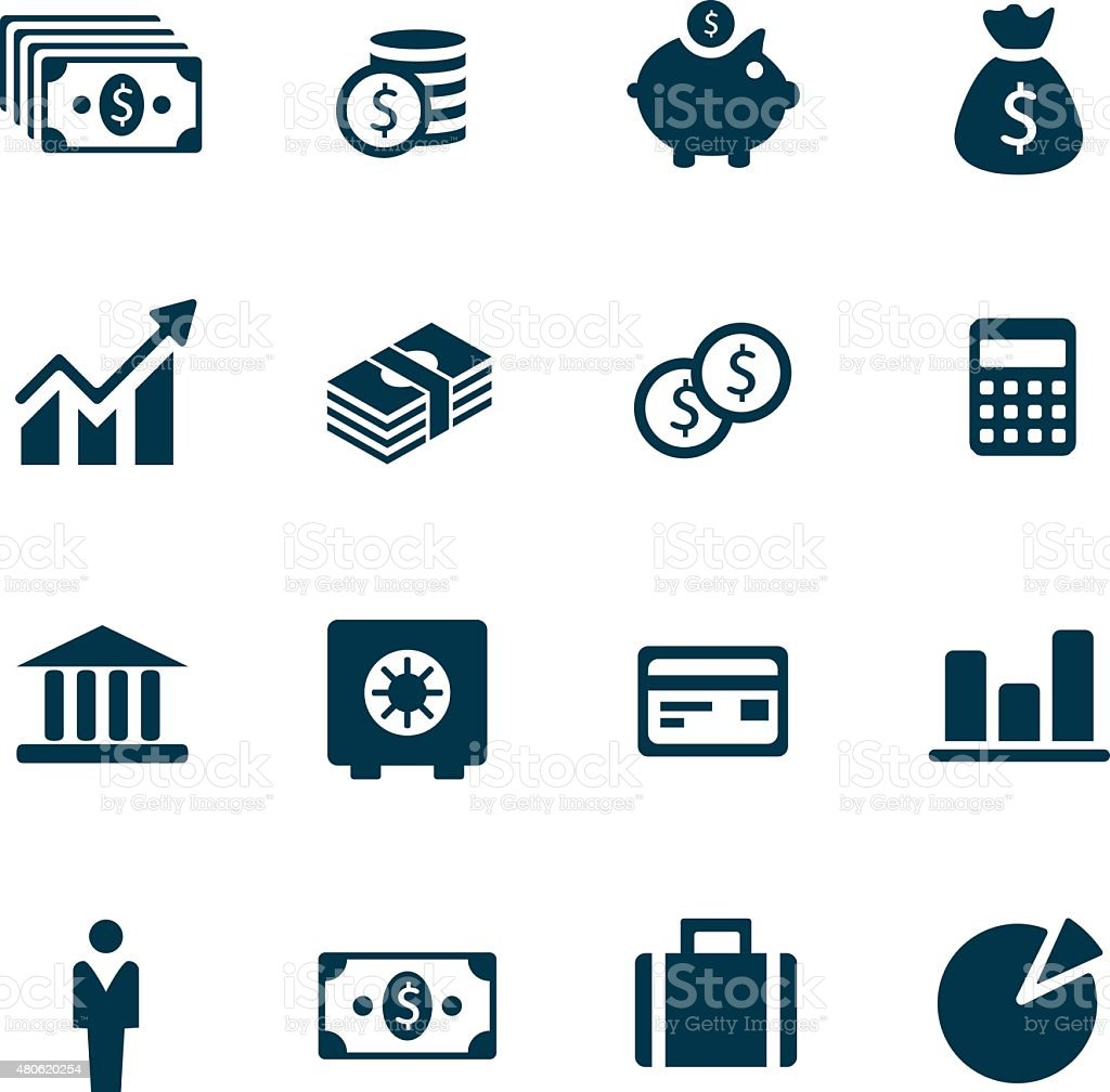 Money Icons vector art illustration
