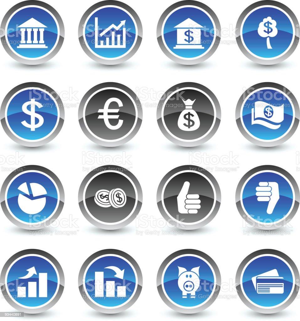 MOney icons royalty-free stock vector art
