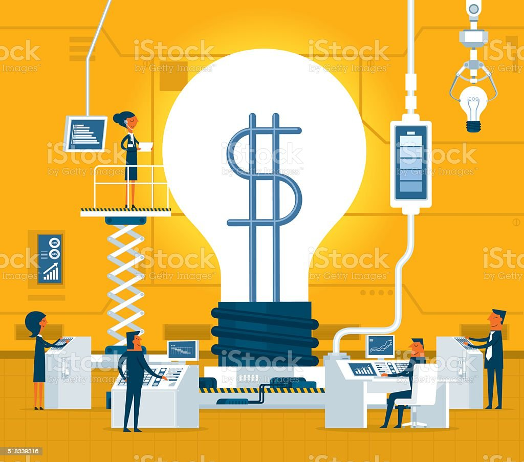 Money idea vector art illustration
