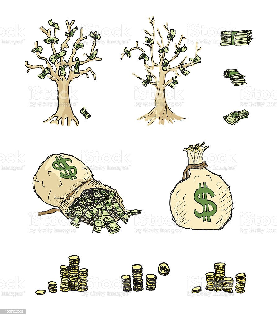 Money Illustrations royalty-free stock vector art