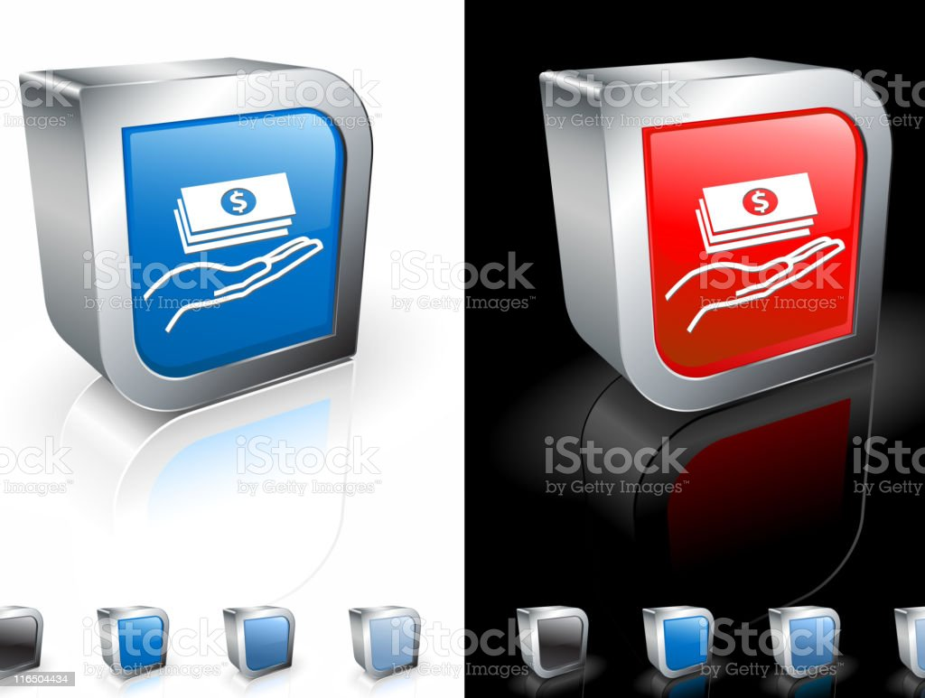 money in hand square royalty free vector art royalty-free stock vector art