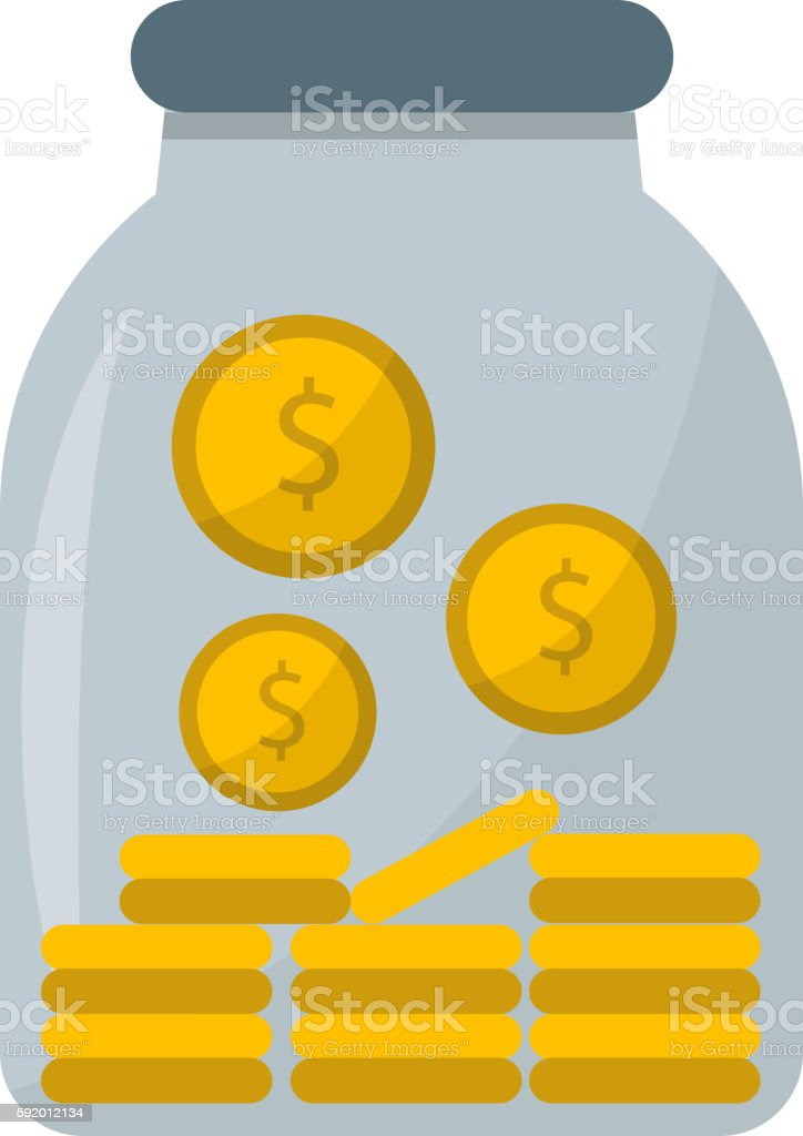 Money jar vector illustration. vector art illustration