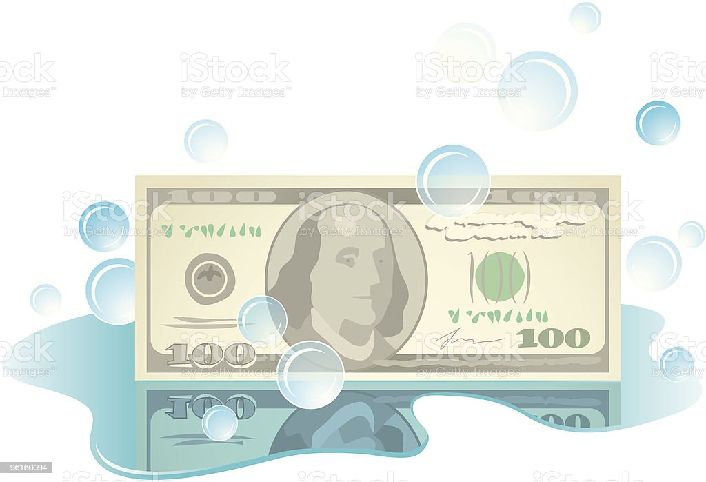 Money laundry royalty-free stock vector art