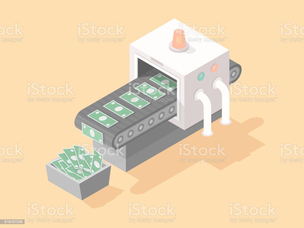 Money Machine vector art illustration