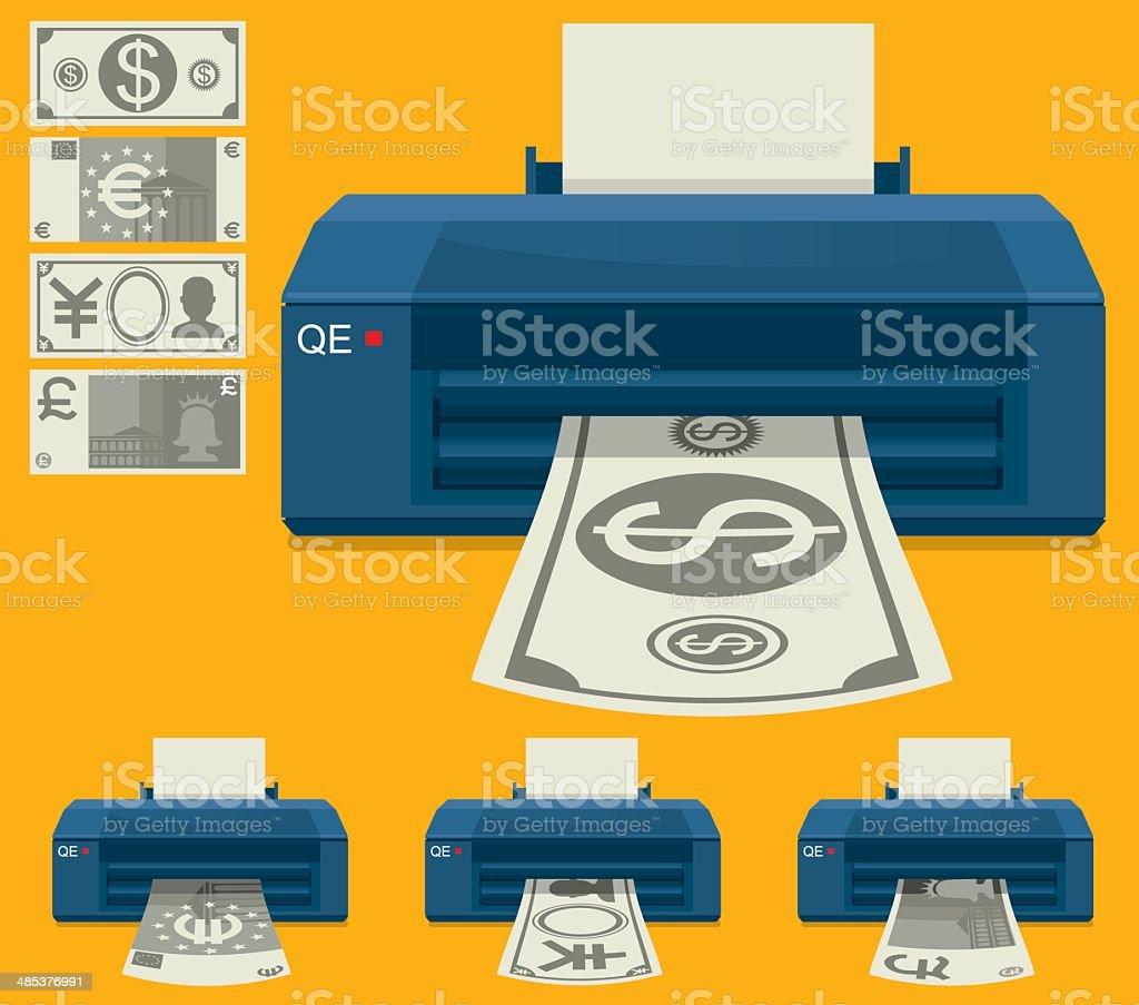 Money Making Machine vector art illustration