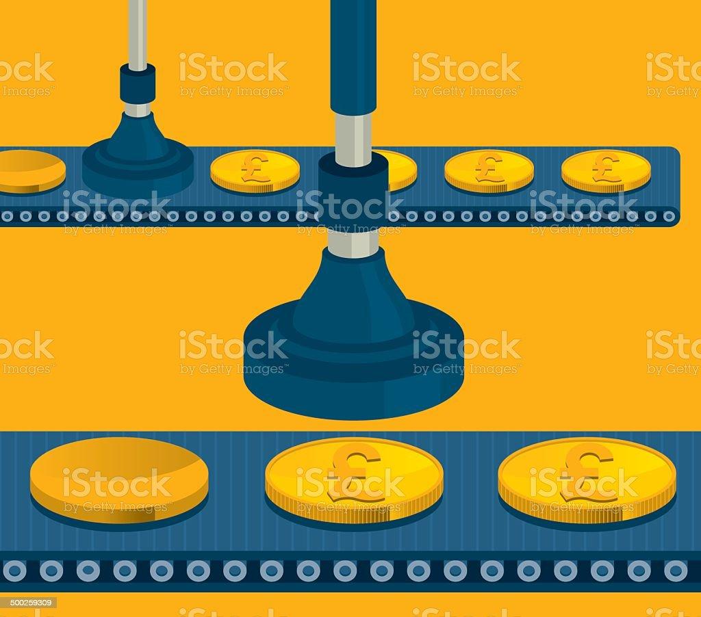 Money Making vector art illustration