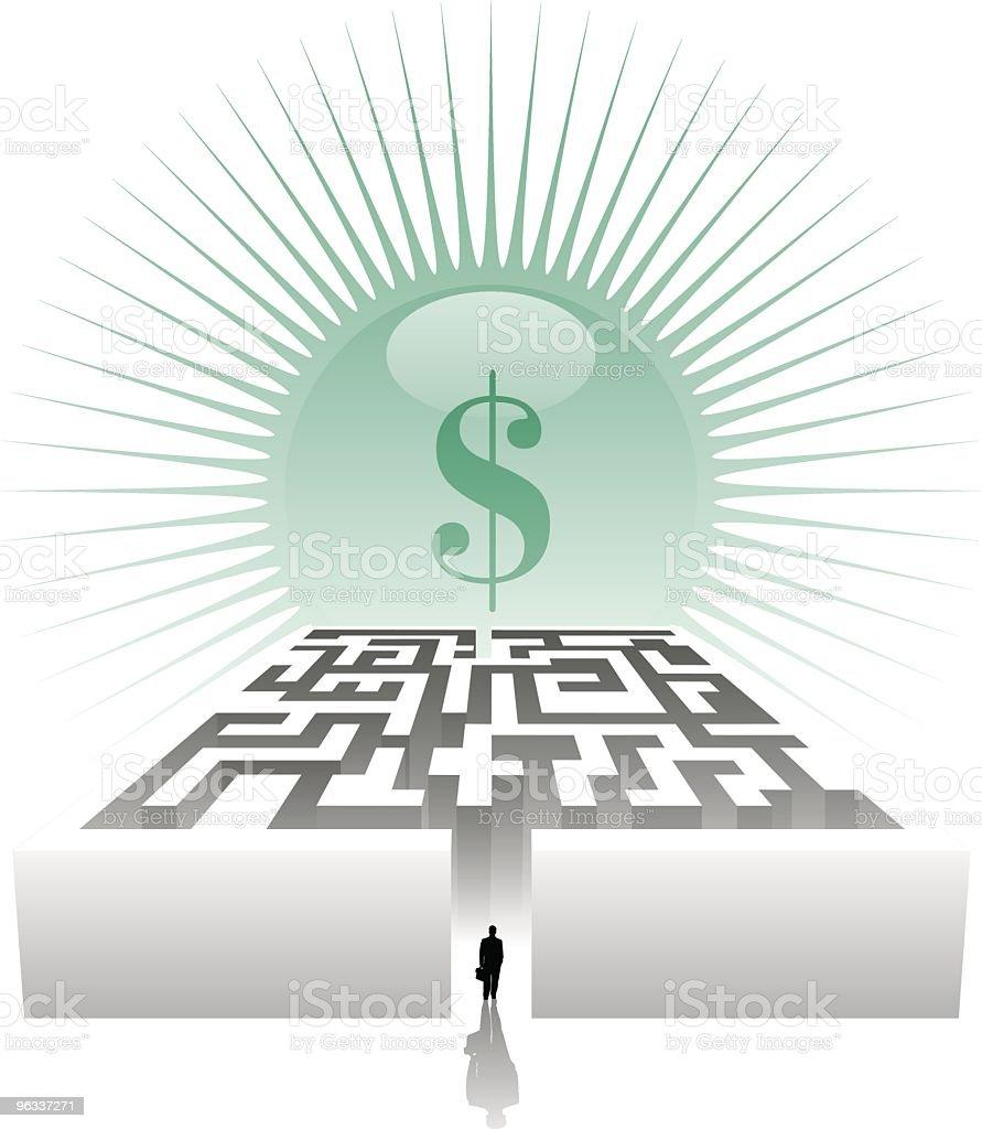 Money Maze ~ Vector royalty-free stock vector art