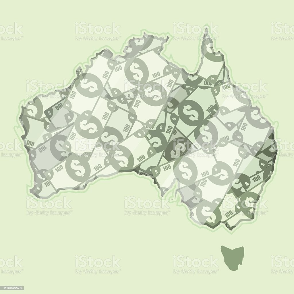 Money of Australia vector art illustration