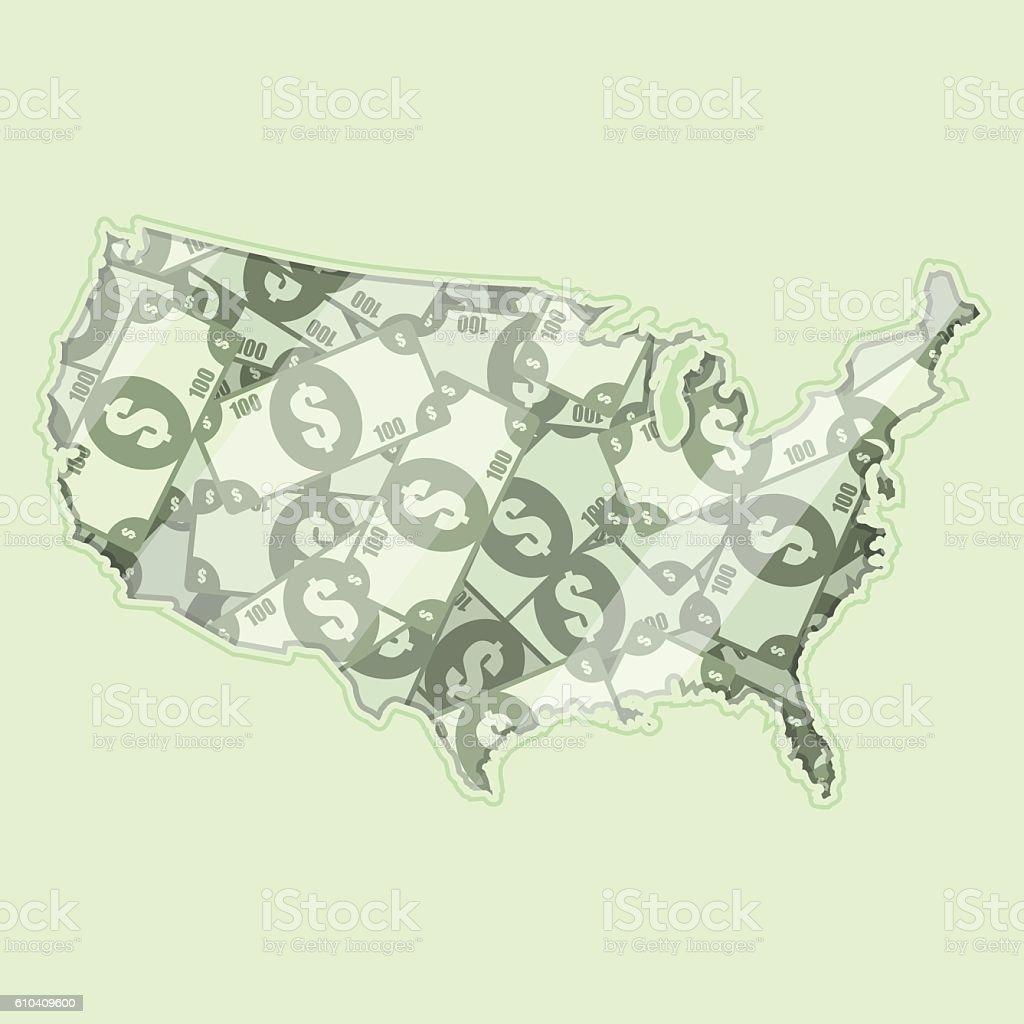 Money of USA vector art illustration