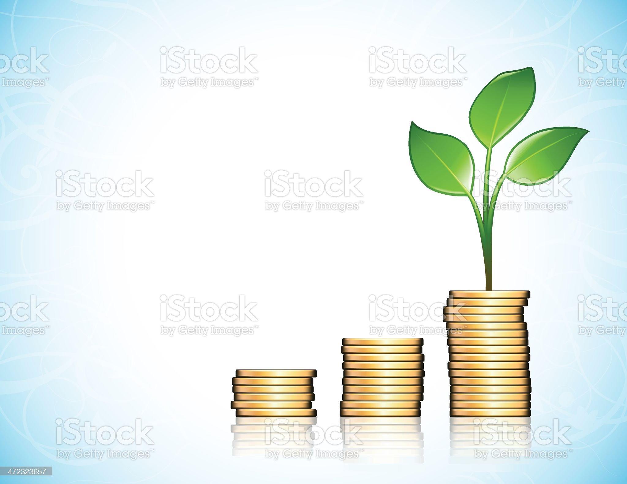 Money Plant royalty-free stock vector art