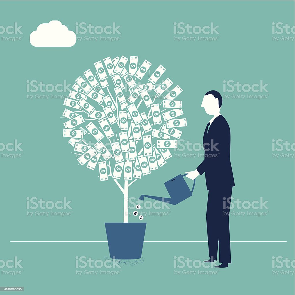 Money Plant vector art illustration