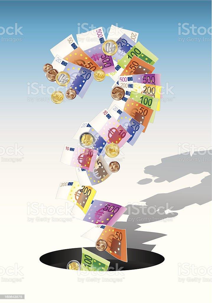 money question vector art illustration
