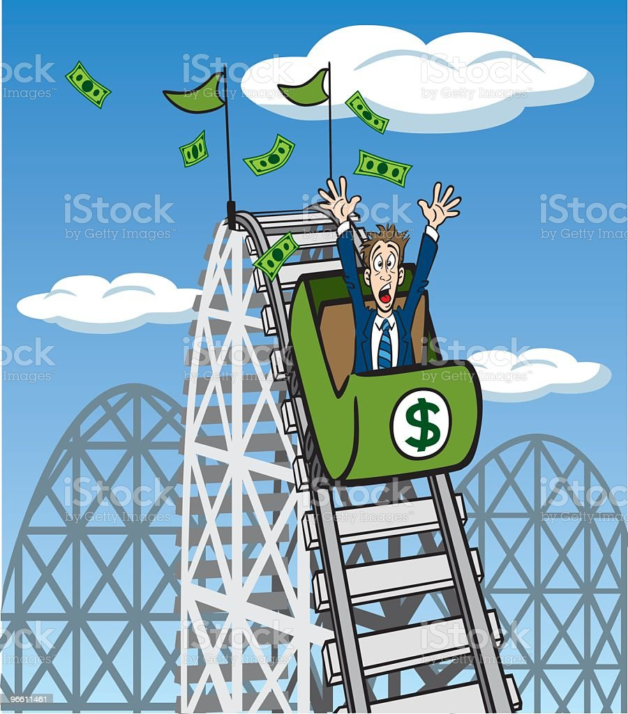 Money Roller Coaster royalty-free stock vector art