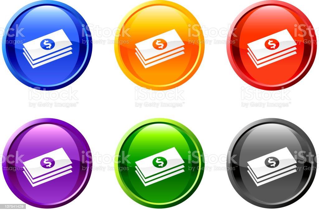 Money royalty free vector icon set royalty-free stock vector art