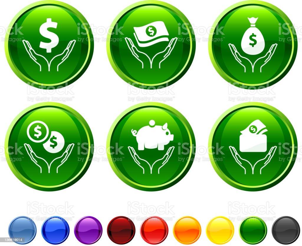money saving icon set royalty-free stock vector art