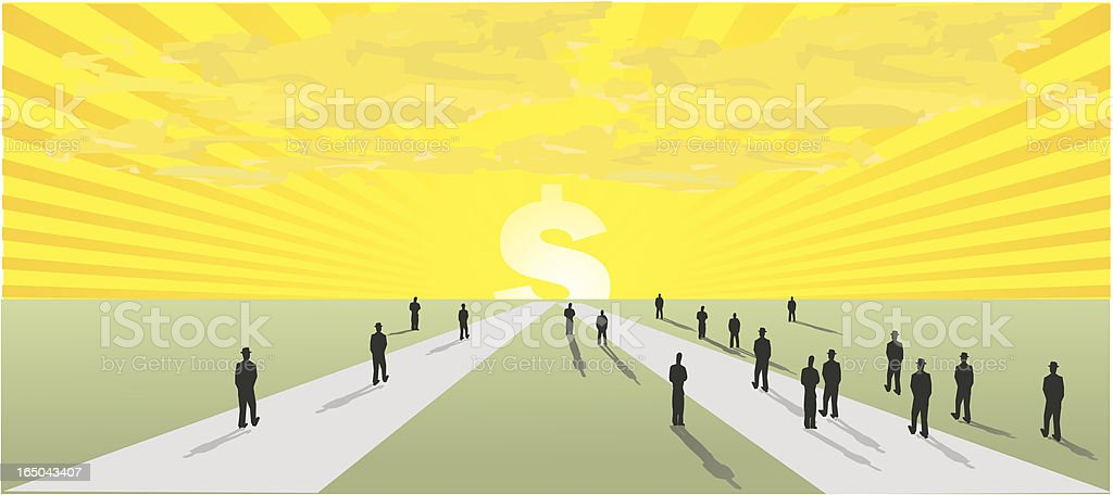 money seekers vector art illustration