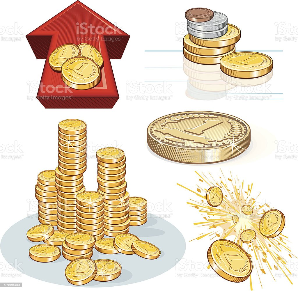 Money Set royalty-free stock vector art