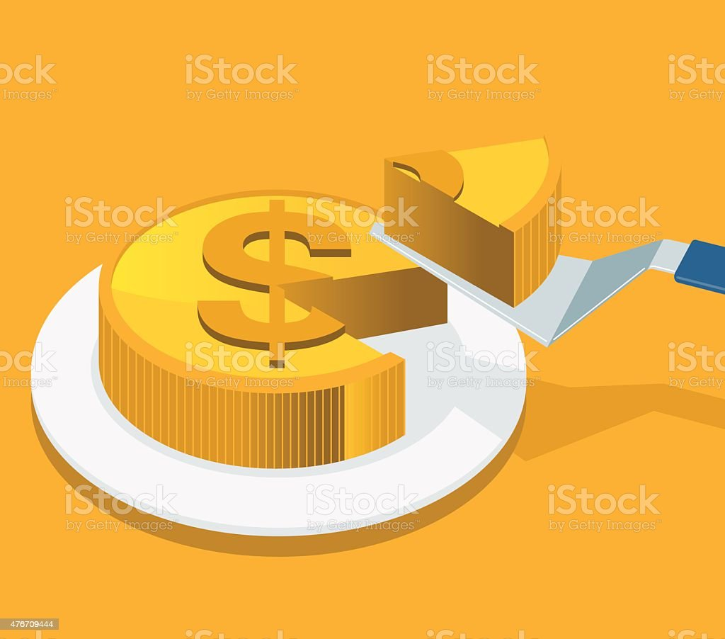 Money Slice vector art illustration