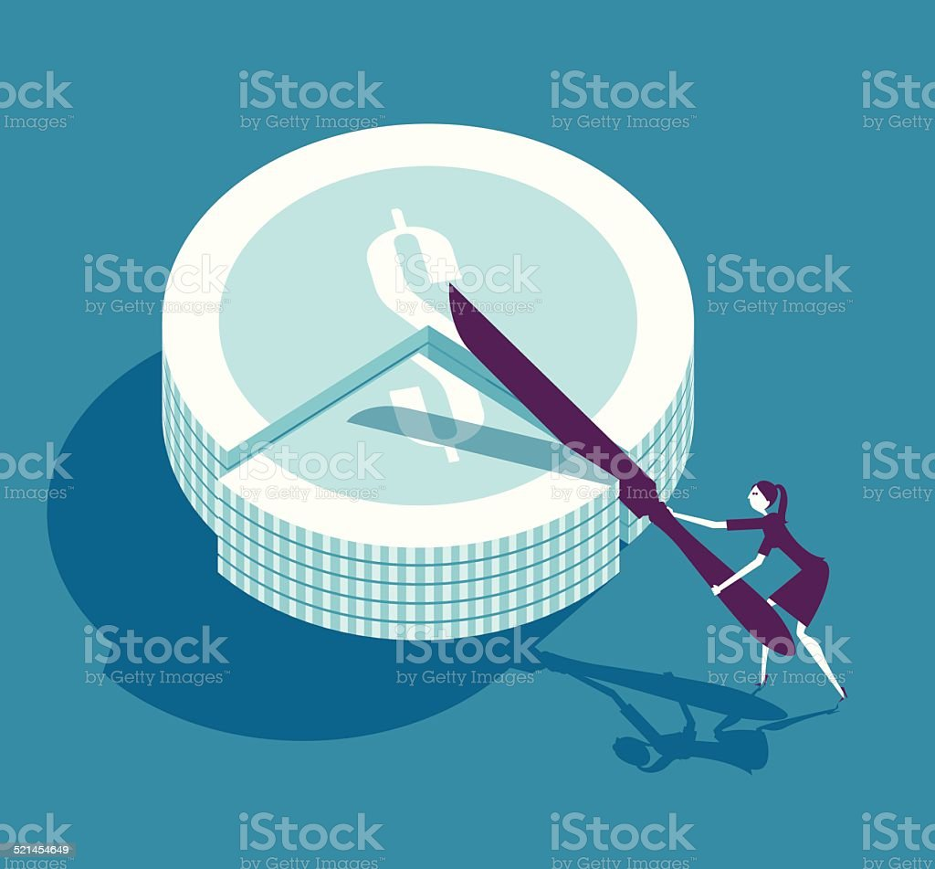 Money Slice vector art illustration