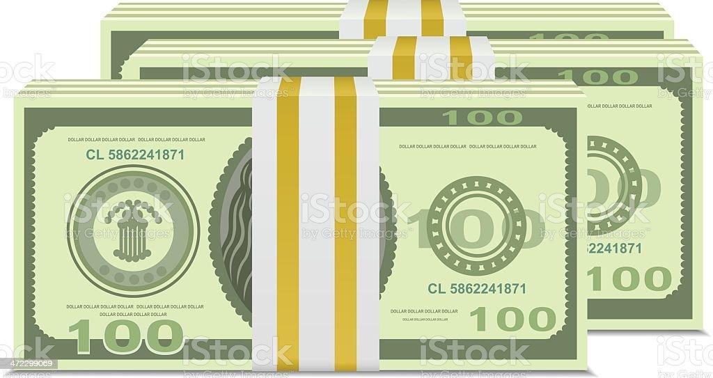 Money Stack vector art illustration