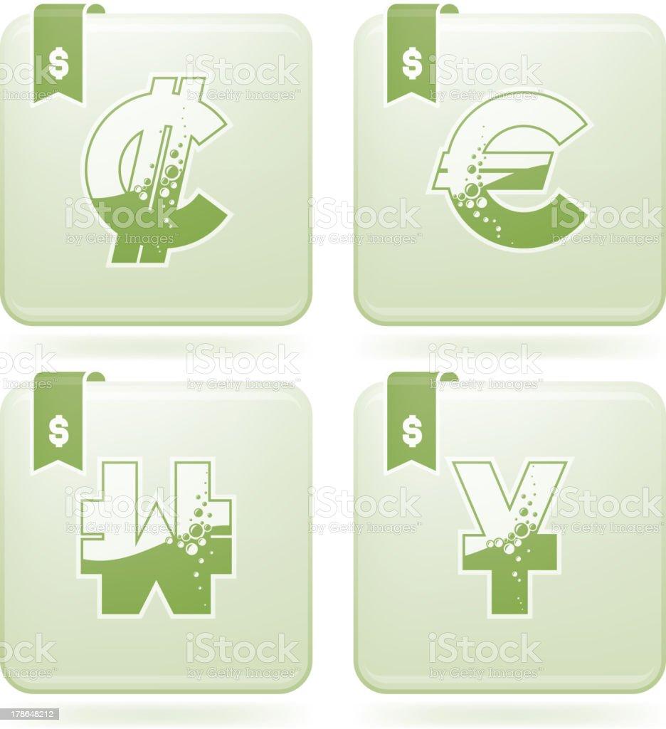 Money symbols royalty-free stock vector art