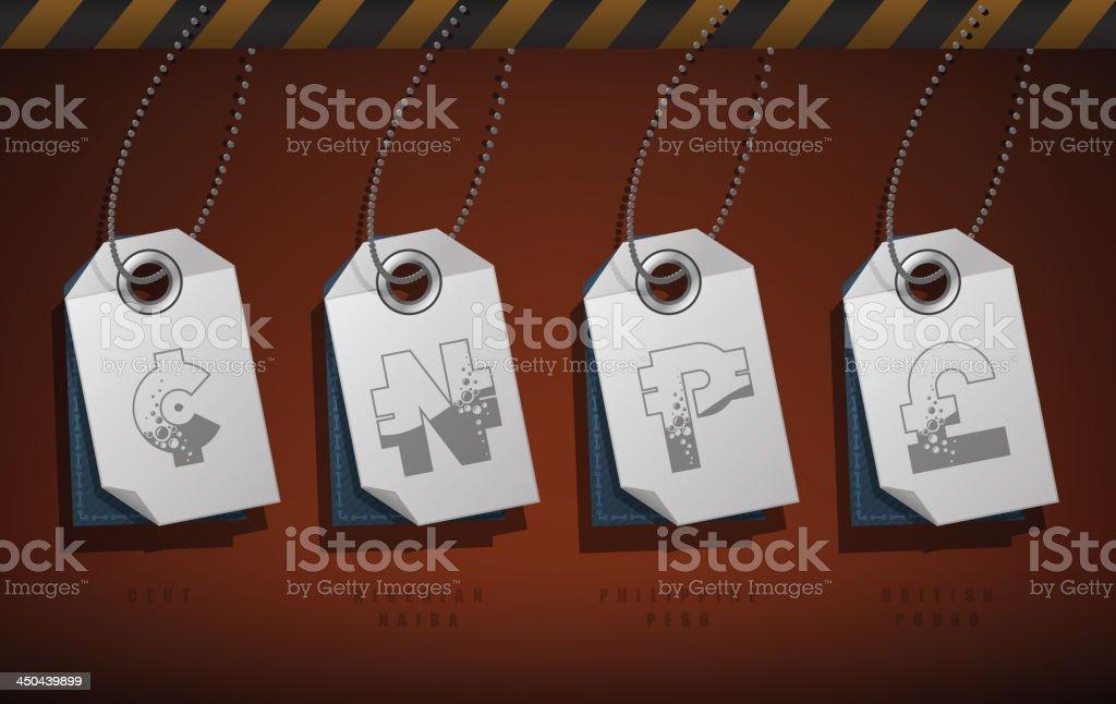 Money symbols vector art illustration