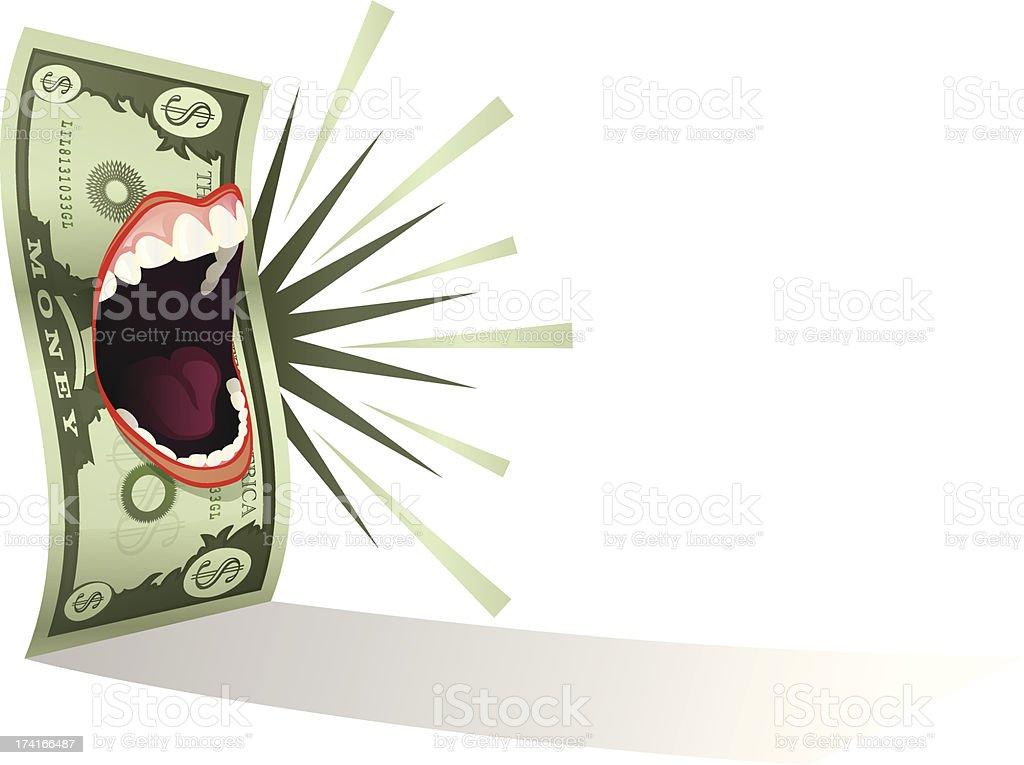 Money Talks vector art illustration